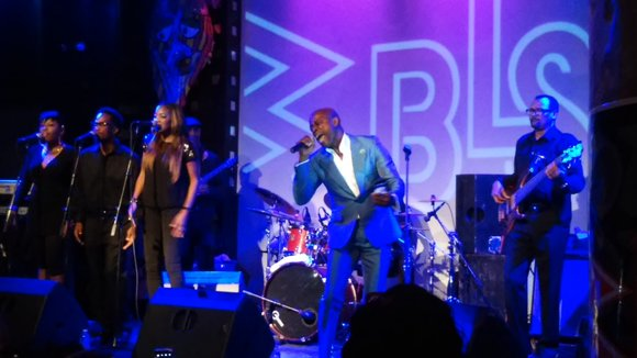 R&B singer KEM performs at a private concert at SOBs hosted by 107.5 FM WBLS.