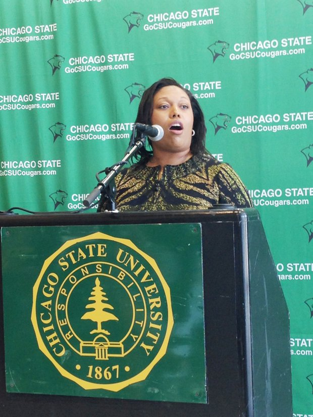 """Chicago State University has already undergone a paradigm shift and we [will] continue to grow as a university each and every day.  CSU athletics proudly takes a leading role in this effort…To my new family, our journey is not over; there is still work to be done."" - CSU Athletic Director Dr. Denisha L. Hendricks (shown)"