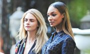 Jourdan Dunn, right, and Cara Delevingne have both made the Forbes models rich list for the first time. Photograph: Alo Ceballos/GC