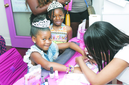They didn't wear glass slippers or ride in golden carriages but dozens of youngsters received spa treatments befitting a princess ...