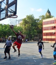 NYPD Community Affairs officers in collaboration with local community leaders held the Patrol Borough Manhattan North 1st Unity in the Community, Basketball Tournament.