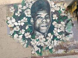 Mural of Yusef Hawkins on Verona Street and Bed‑Stuy (Nosayaba Odesanya photo)