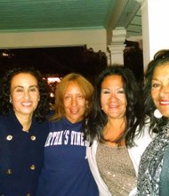 The girls can still hang: L-R; Nicole Stent, Michelle Stent, Yvonne DeLaney Mitchell, Krishna Tarter Tabor ad Renee West.