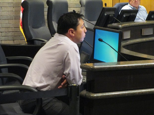 Concerned Citizens of Joliet organizer Richard Rodriguez testified at last week's Joliet Electoral Board hearing on whether the group had obtained enough valid signatures to place a council redistricting referendum on the Nov. 4 election ballot.