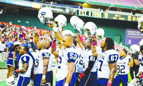 Howard's sixth consecutive win over Morehouse in last year's AT&T Nation's Classic extended the overall series record to 23-10-2. (Courtesy of The Hilltop)