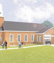 This architectural rendering of the R.I.S.E. Demonstration Center depicts the newly renovated structure that originally housed the Chapel for St. Elizabeths that was built in 1955. (Courtesy photo)