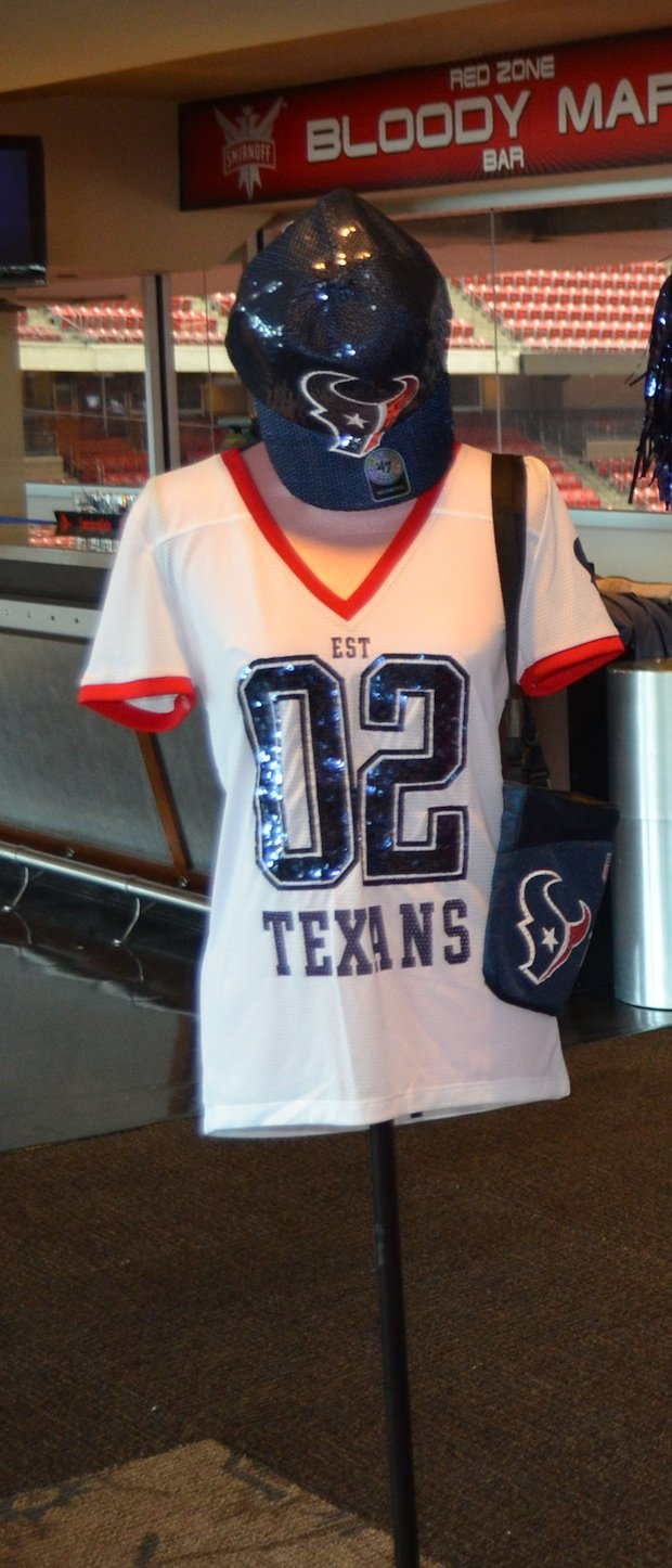 Some thing for the female Houston Texans fans at the Battle Red Ladies Boutique