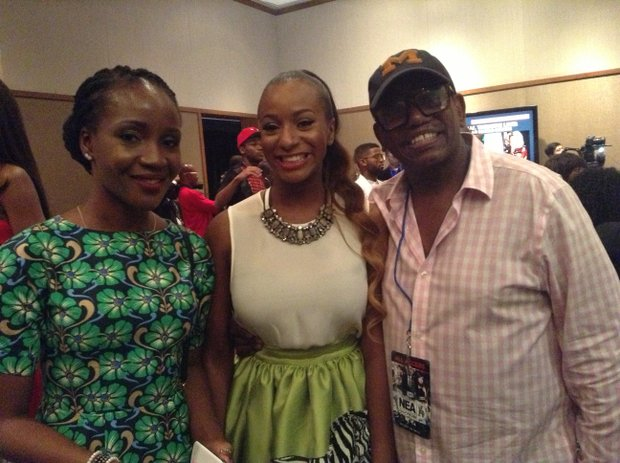 (R-L) Lola, DJ Cuppy and Sparkie Martin