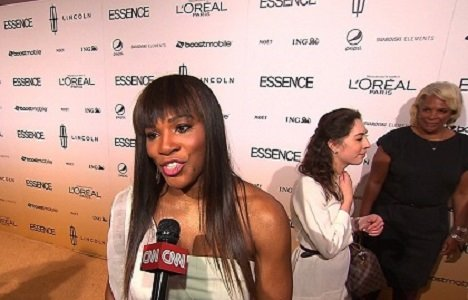 Serena Williams speaks to CNN on the red carpet of the 2011 Essence Black Women of Hollywood Awards.