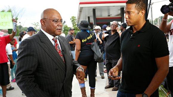 Facing down hostile Ferguson, Mo. police officers was all in a day's work for CNN reporter Don Lemon.