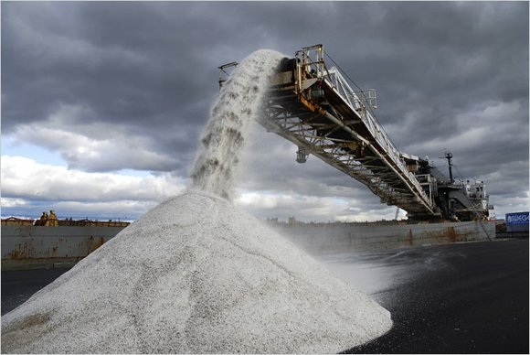 After the state disbanded a group purchase plan, the villages were left scrambling to buy road salt on their own ...