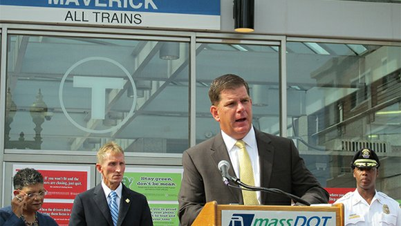 Mayor Walsh, MBTA officials and school department officials outlined their plans to ensure the safety of 8th graders riding the ...