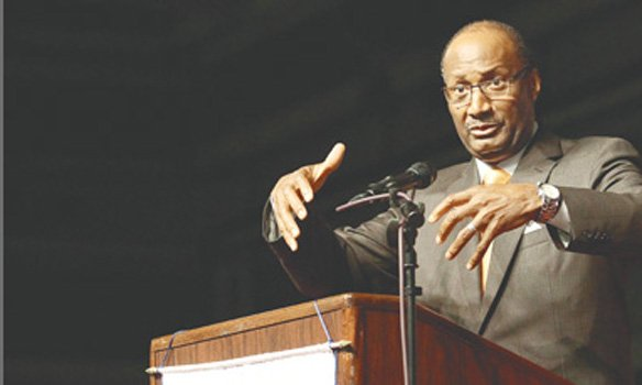 President-elect Rev. Jerry Young gives his first speech Friday in New Orleans at the National Baptist Convention USA, the largest group of black Christians in the United States.