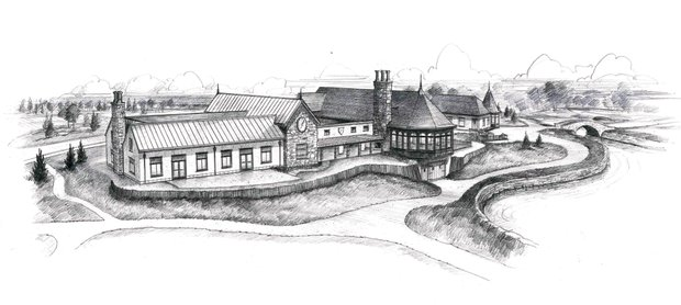 This is how the rear of the new Mistwood Golf Club Clubhouse will look when completed, per an artist's rendering of the project.