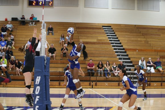 """We're off to a good start with this new coaching staff,"" said Adama Aja, a middle blocker on Hofstra's volleyball ..."