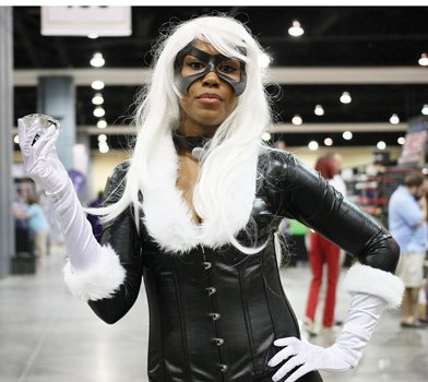 Dana Belle dressed as Marvel Comics' Black Cat.