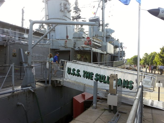 The USS The Sullivans is one of the naval entities found at the Buffalo & Erie County Naval and Military Park, America's largest inland naval park.