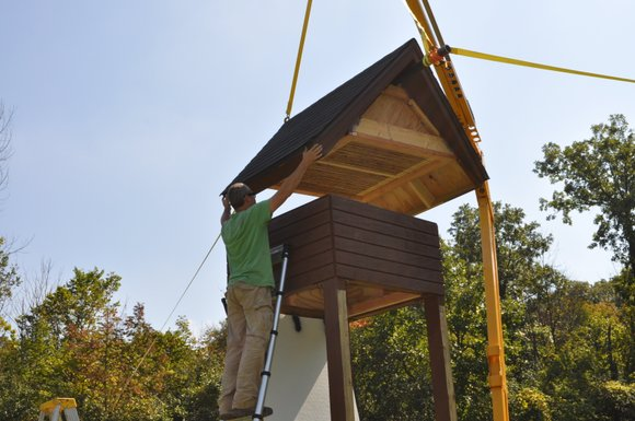 The Will County Forest Preserve District erected the new bat home to encourage the brown bats making congregating in the ...