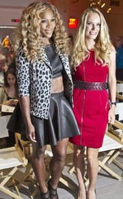 Serena Williams, left, defeated her friend, Caroline Wozniacki, in the U.S. Open women's final two days before Wozniacki attended Williams' showing of her Spring 2015 collection during Fashion Week on Tuesday in New York.