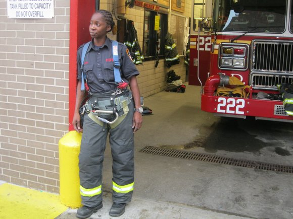 Last week at the Christian Cultural Center in Brooklyn, alongside 55 other FDNY members, Tracey Lewis became the second Black ...