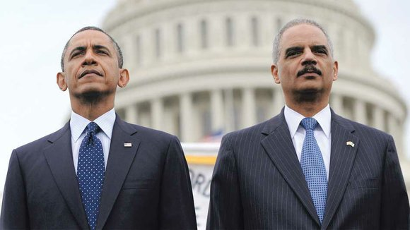 United States Attorney General Eric Holder Jr., the first African American to hold the position who announced his resignation, effective ...