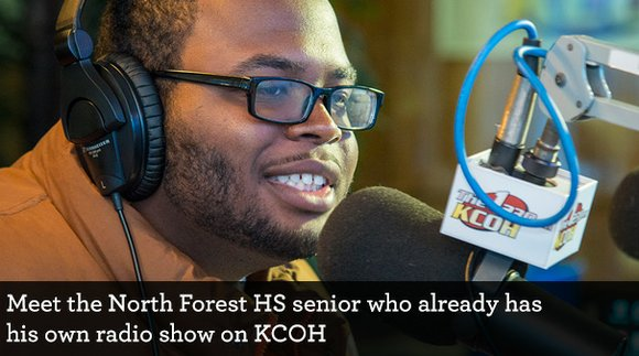 You host the Generation Next program on Saturday mornings at KCOH 1230 AM. How did a high school senior come ...