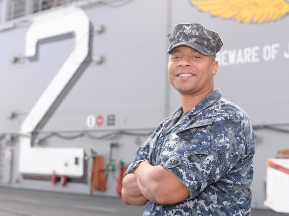A 1997 A.B. Miller High School graduate and Rialto, Calif., native is serving aboard USS Essex (LHD 2), the largest ...