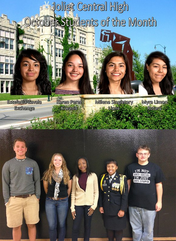 Four students at Joliet Central and five at Joliet West were recognized for character, citizenship, dependability and maturity.