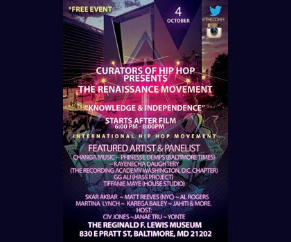 On Saturday, October 4, 2014, the Reginald F. Lewis Museum located at 830 Pratt Street in downtown Baltimore, will be ...
