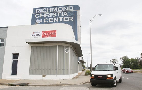 The prominent Richmond Christian Center at 214 Cowardin Ave. is one of several sanctuaries that are on the market, including ...