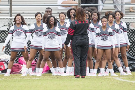 VUU's Rah-Rahs kept the crowd cheering during Saturday's game.