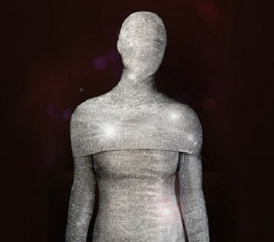 """What does a million-dollar Halloween costume look like? Hint: It gives new meaning to the phrase """"dripping with diamonds."""""""