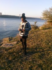 Artist Lauren Halsey by the Harlem Riverbank, 145th street and Riverside