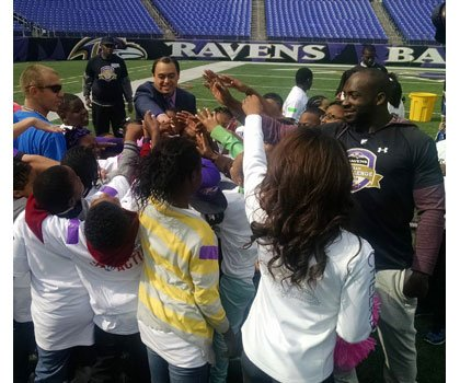 The Baltimore Ravens held their third annual Ravens TEAM Challenge at M&T bank Stadium on Monday, October 20, 2014.