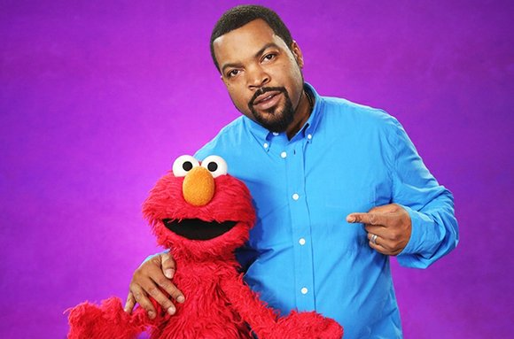 "Ice Cube paid a visit to ""Sesame Street"" recently to hang with Elmo and teach him a new word….""astounding."""