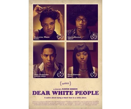"The film ""Dear White People"" is a satirical drama written and directed by Justin Simien."