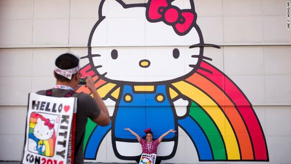 Hello Kitty is celebrating its 40th year in grand fashion in one of downtown Los Angeles' classiest museums, and there ...