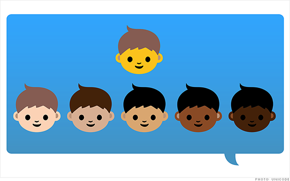 Unicode, the organization that develops emojis, said that a diverse range of skin tones will be available when Unicode Version ...