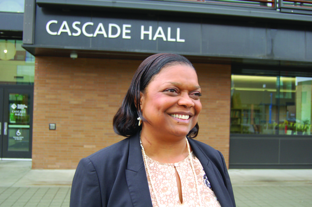 Dr. Karin Edwards, the new president of Portland Community College's Cascade Campus, embraces a campus 'without fences or gates' as it welcomes all students and integrates educational services for north and northeast Portland residents.