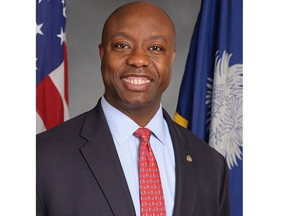 South Carolina's Tim Scott on Tuesday became the first African-American senator to win election in the South since Reconstruction.