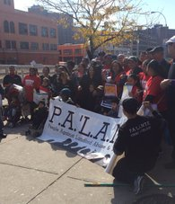 Protesters at the Renters March on Oct 25th 2014.