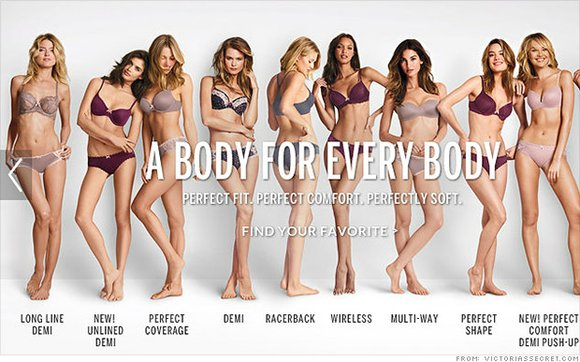 "Victoria's Secret has reportedly swapped its ad slogan, ""The Perfect Body,"" for one that is meant to be more palatable ..."