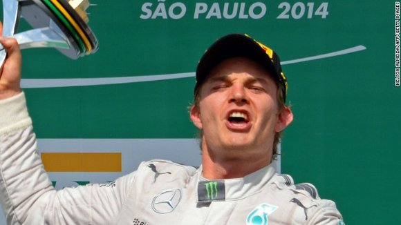 Rosberg, who started from the front of the grid after his 10th pole of the season, maintained his advantage over ...