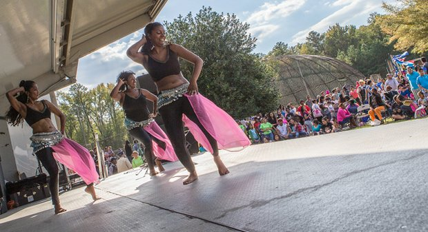 Queens of the Nile Belly Dance Troupe perform at the 2014 Imagine Festival.