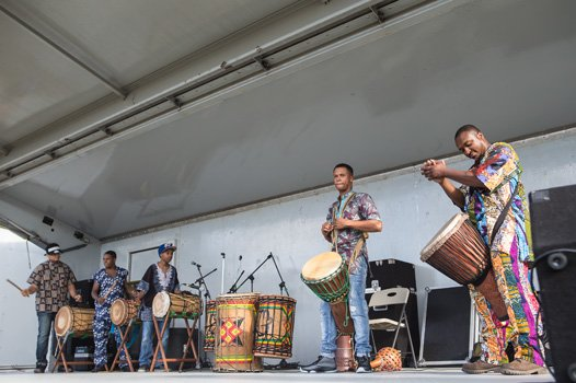 Taaluma Youth Performance Co. (African drumming and dance) at the 2014 Imagine Festival.
