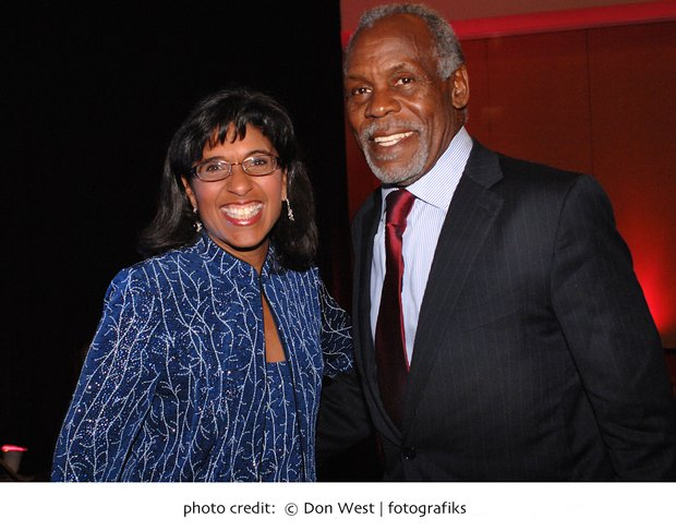 ABCD Executive Vice President Sharon Scott-Chandler with Danny Glover