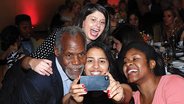 "Danny Glover fans thrill to a ""selfie"" with the famed actor/humanitarian. Glover enchanted and inspired 650 guests at the ABCD Annual Gala on Nov. 7 at the Boston Marriott Copley Place with stories of his early days working in community organization in the San Francisco Bay area in the late 1960s era of social justice activism. He said he was proud to be with ABCD, an organization that lives every day the mission of bringing opportunity and empowerment to people and communities in need."