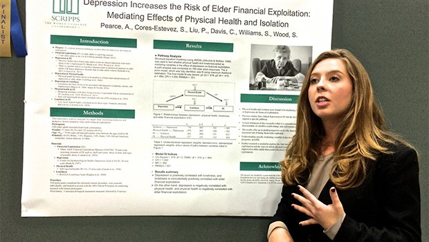 Researcher Sarah Williams of Scripps College discusses her team's findings on depression and elder financial exploitation at the Gerontological Society of America's 2014 Annual Scientific Meeting.