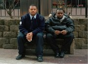 Men posing for the camera for Caroline Tompkins' Hey Baby project. via http://www.carolinetompkins.com/