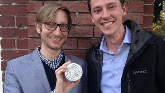 Small, round and plastic, Point looks like a traditional smoke alarm crossed with a speaker. Sounds are matched with data ...